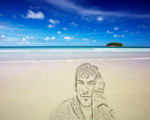 Портрет на песке
