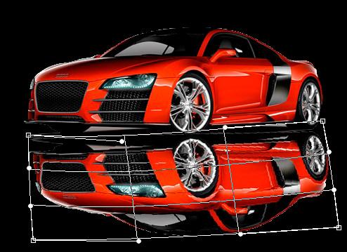 Зеркальное отражение в фотошоп